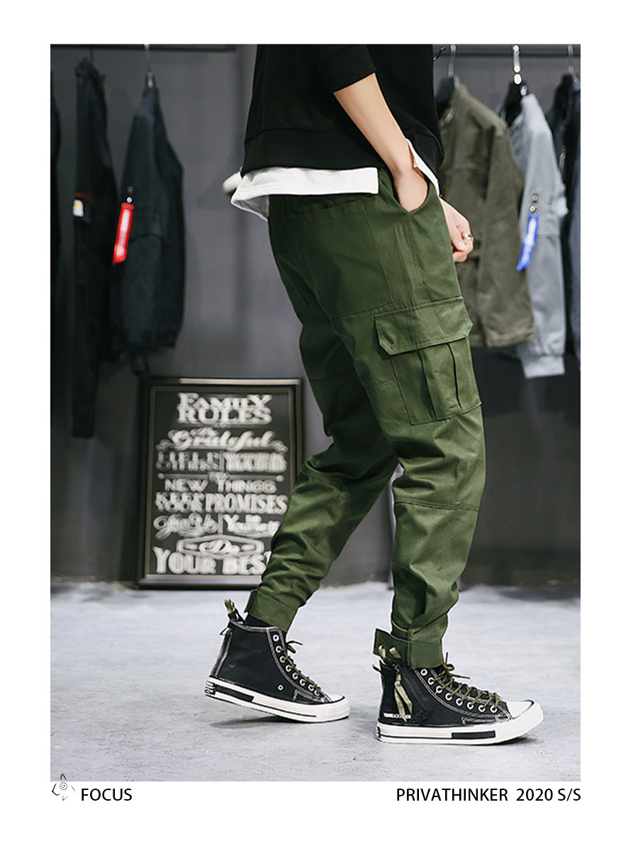 Privathinker Cargo Pants Men 2020 Mens Streetwear Joogers Pants Black Sweatpant Male Hiphop Autumn Pockets Trousers Overalls 67