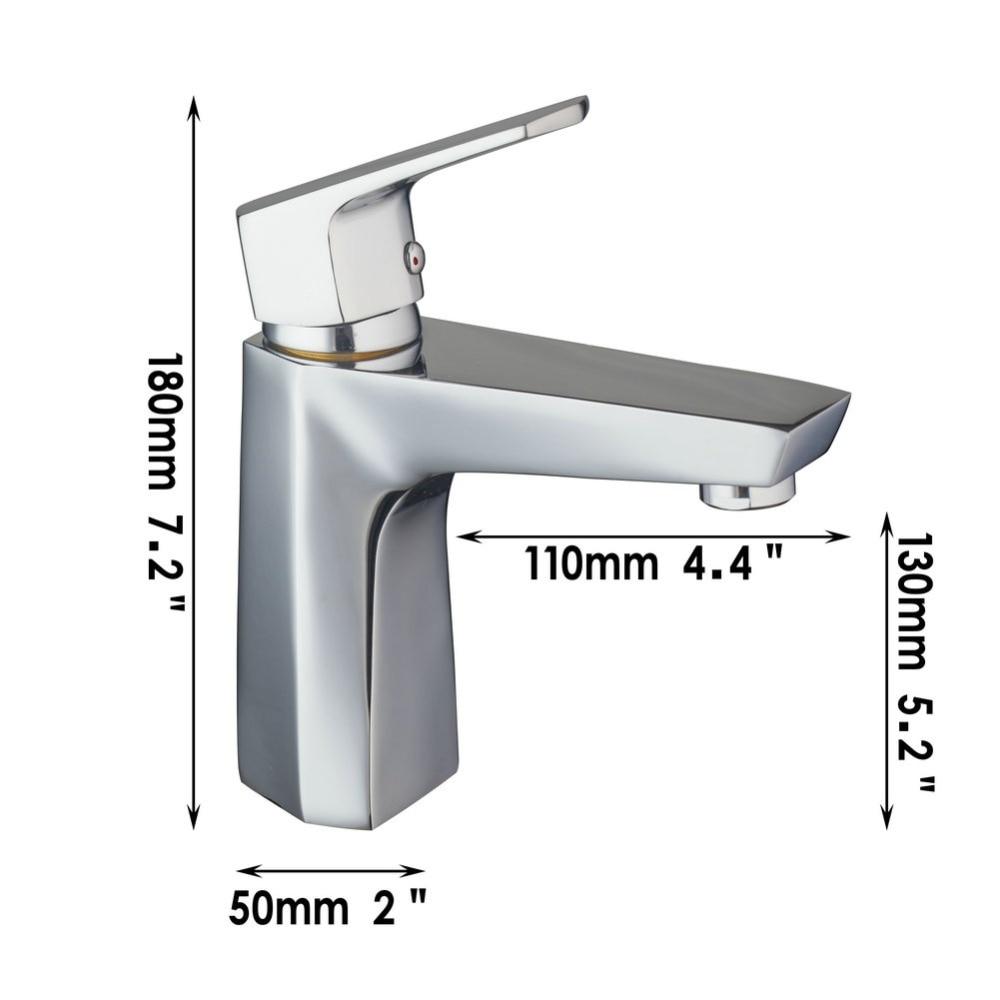⃝Cromo Bañeras y cocina grifo del fregadero del lavabo del tubo de ...
