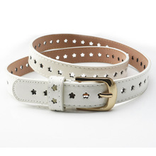 Popular Vintage Pin Buckle Belt Summer Style Women Belts Hollow Pierced Waist Band for Girls Students of Jeans F0220
