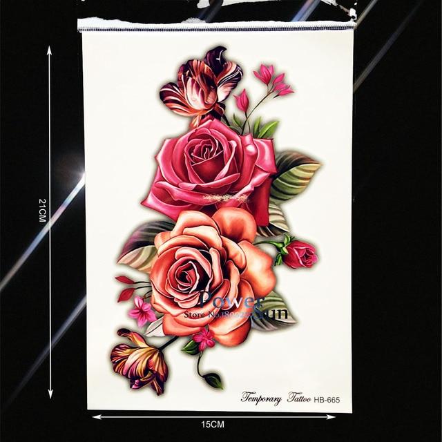 Large Body Arm Painitng Tattoo Big Size Flower Henna Paste PHB-665 Fake Flash Tattoo Wall Sticker Women Makeup Jewelry Sticker