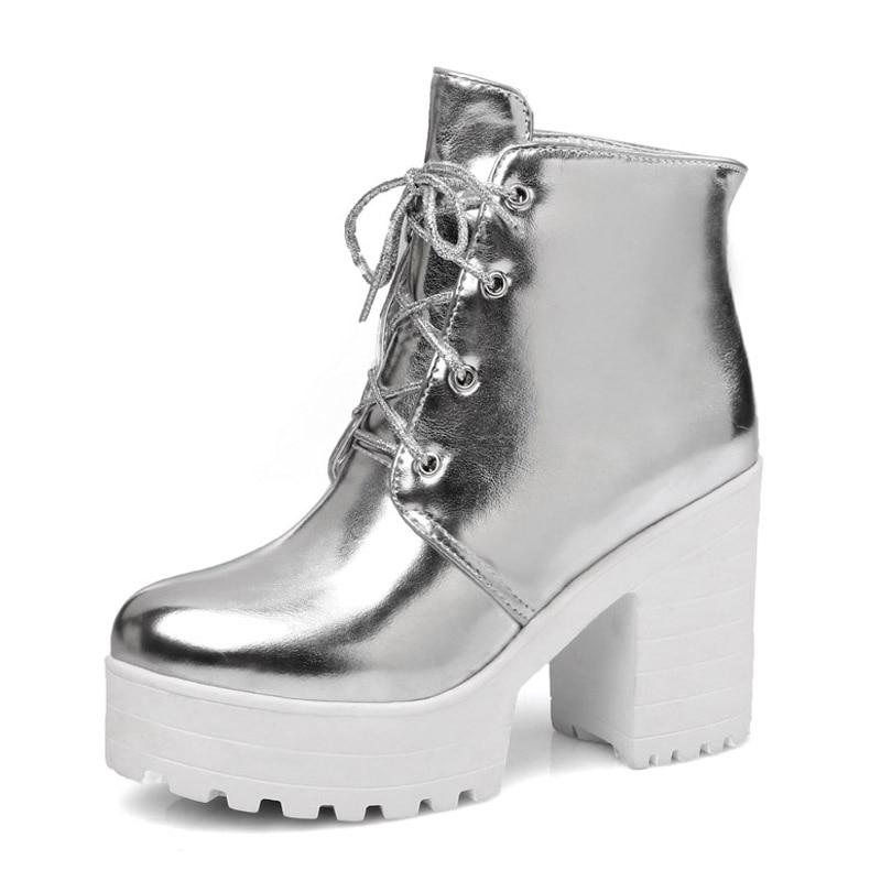 Popular Silver Boots High Heel-Buy Cheap Silver Boots High Heel ...