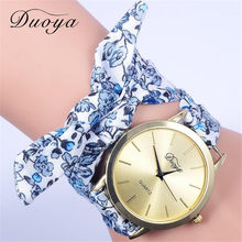2019 Fashion Women's Watch Flower Star Bow Bracelet Wristwatch Scarf Band Party Gofuly Dress Watch Casual Clock Relogio Feminino(China)