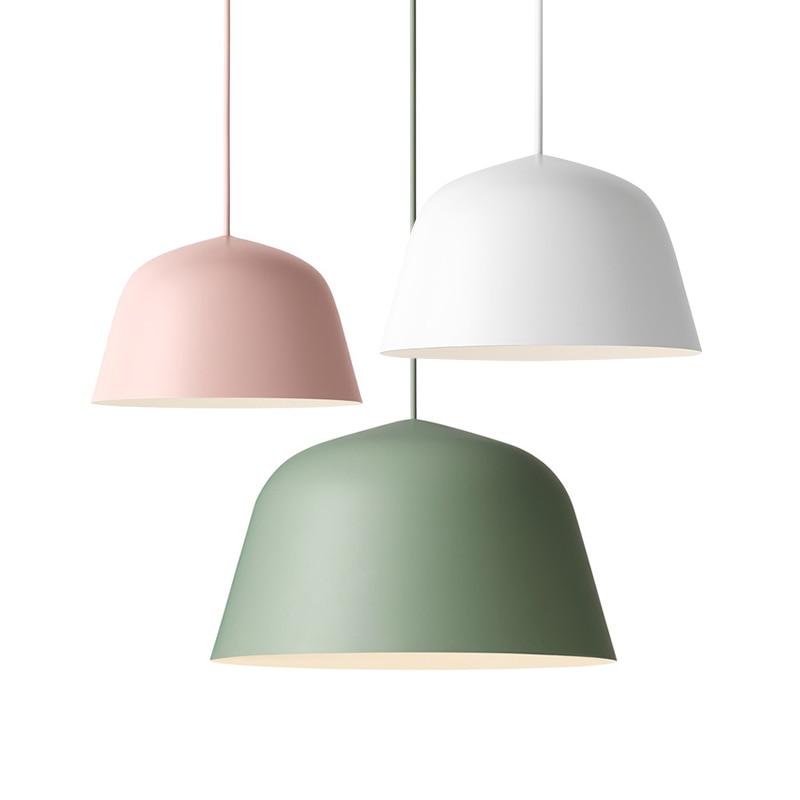 Фотография Nordic contracted fashion droplight, optical design E27 aluminum chimney pendant light, home decoration lighting