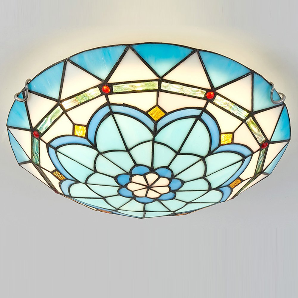 Mediterranean Spin Drift Bedroom Ceiling Light Lake Blue