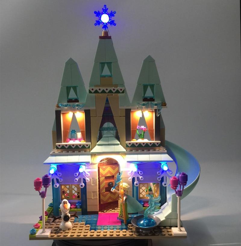 JULITE Led Light Kit For lego 41068 Compatible with lego Friend Elsa Anna Arendelle Castle Celebration Model