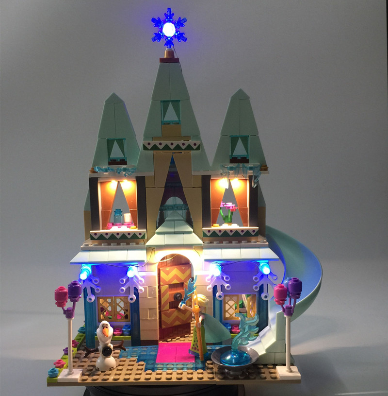 JULITE Led Light Kit For Lego 41068 Compatible With Friend Elsa Anna Arendelle Castle Celebration Model