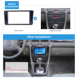 Image 5 - Seicane Car Double Din Stereo Fascia Panel Adaptor DVD Frame Trim For Audi A6 C5 Refit Bezel Marco Dashboard Installation Kit