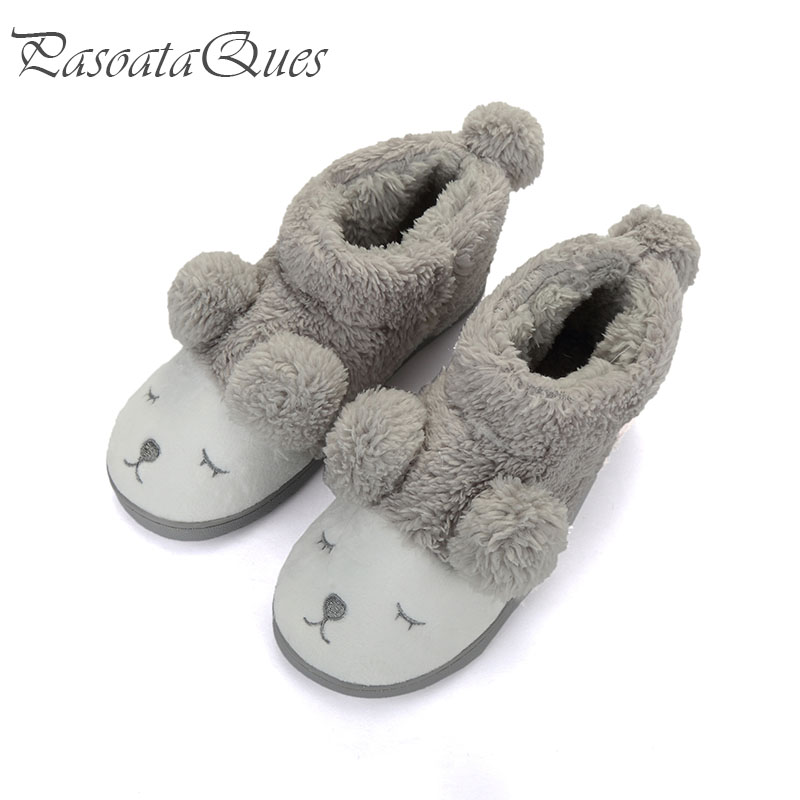 Cute sheep warm winter women men couples home slippers for for H m bedroom slippers