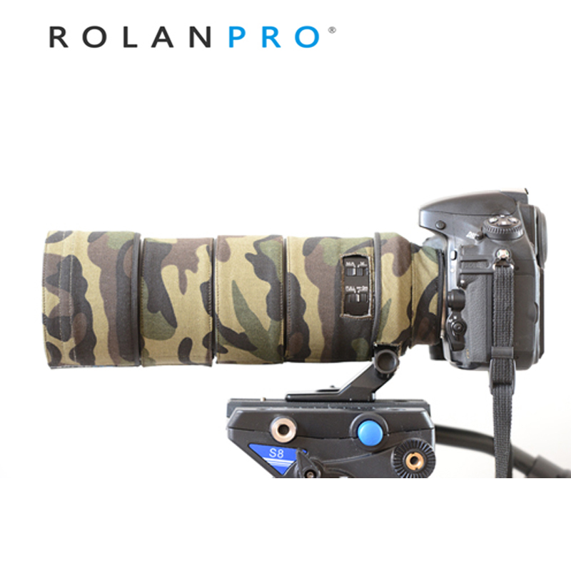 ROLANPRO Lens Clothing Camouflage Coat Rain Cover for Nikon AF S 300mm F 4D ED lens