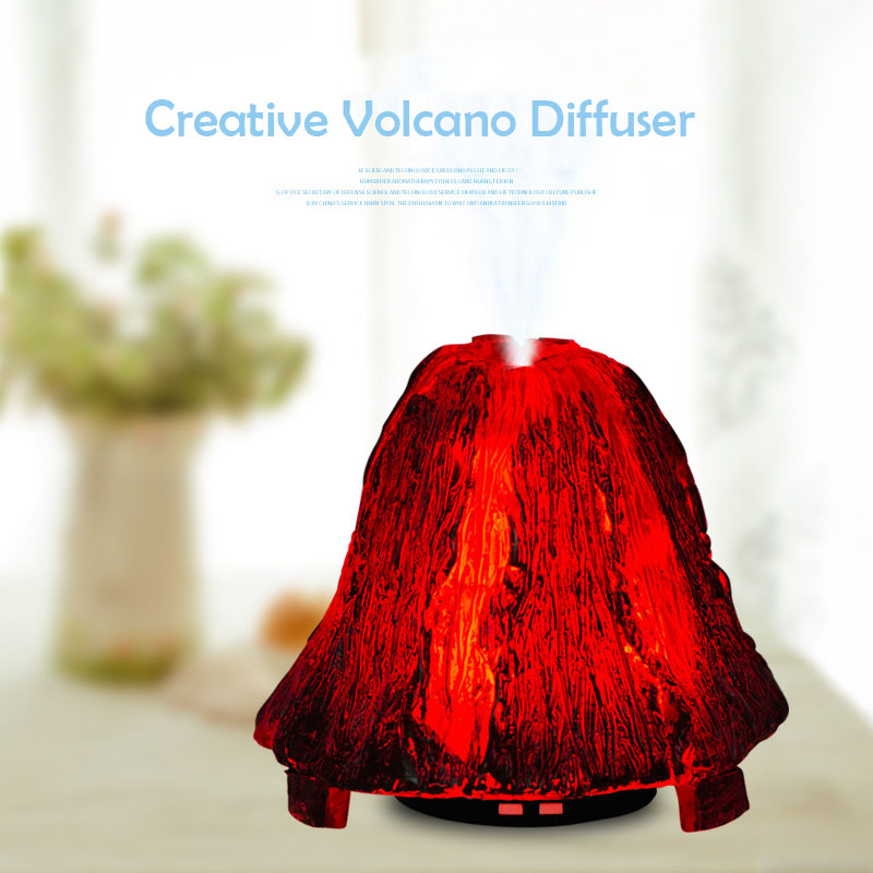 Mini Volcano Air Humidifier Household Beautiful Aroma Oil Diffuser Desktop Volcano Auto Shut-down Ultrasonic Humidifier бра reccagni angelo 6208 a 6208 1