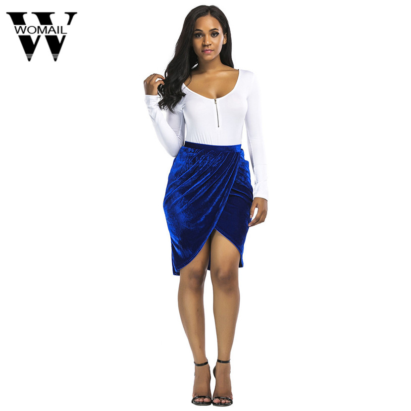 Womail Side split sexy skirts womens Soft bow wrap