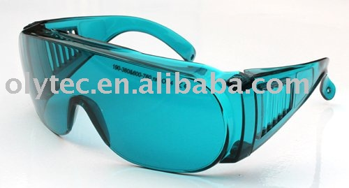 laser protective glasses 190-380nm & 600-760nm O.D 4 + CE High VLT% 10pcs 190 380