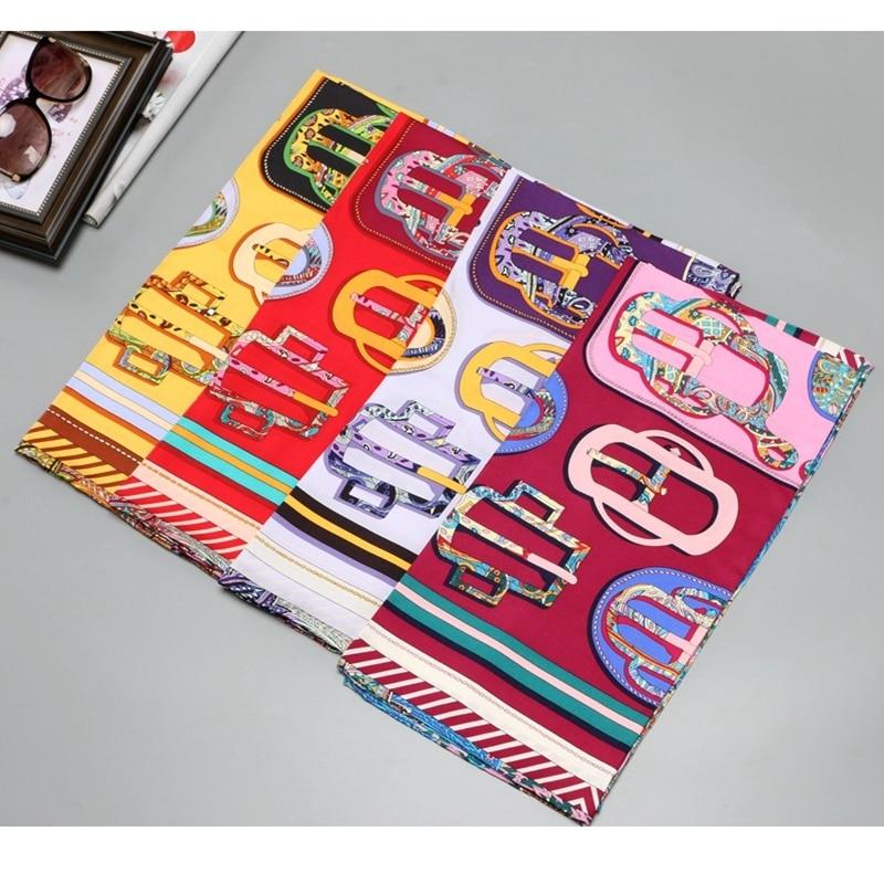 NEW Fashion 100% Silk   Scarf   Shawl Hijab Head   Scarves   for Women Large Square Silk   Scarves     Wraps   Foulard 35