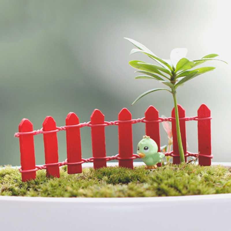 Cerca de madeira Jardim Paisagem Terrário Estatueta De Fadas Em Miniatura Bonsai DIY Craft