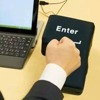 Novelty USB Big Enter Key Anti Stress Toys Relief Supersized Enter Key Office Desk Foam Nap