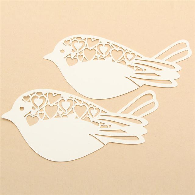 50 Pcs Bird Shape Glass Card