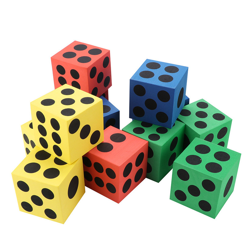 Kids Education Dice Toy Eva Foam Dice Six Sided Spot Dice Kid Game Soft Learn Play Children's Building Blocks Toy #2O25