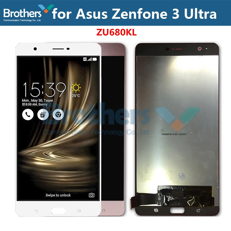 LCD Screen for Asus Zenfone 3 Ultra LCD Display for ASUS ZU680KL LCD Assembly Touch Screen Digitizer Phone Replacement Test AAA