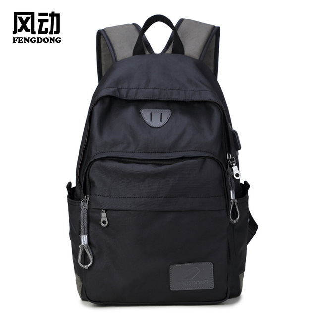 2018 New Middle School Backpacks USB Charging Anti-theft Waterproof  Scientific Design Comfort Rucksack Men Backpack Tourist 587e00e5bae90