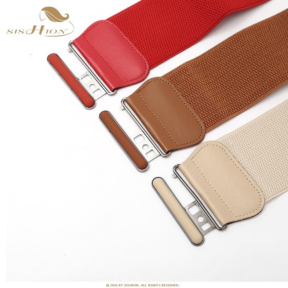 Sishion Designer Belts For Women Ladies Fashion Black Red Camel Brown Elastic Corset Wide Waist Belt Vb0034 Women S Belts Aliexpress