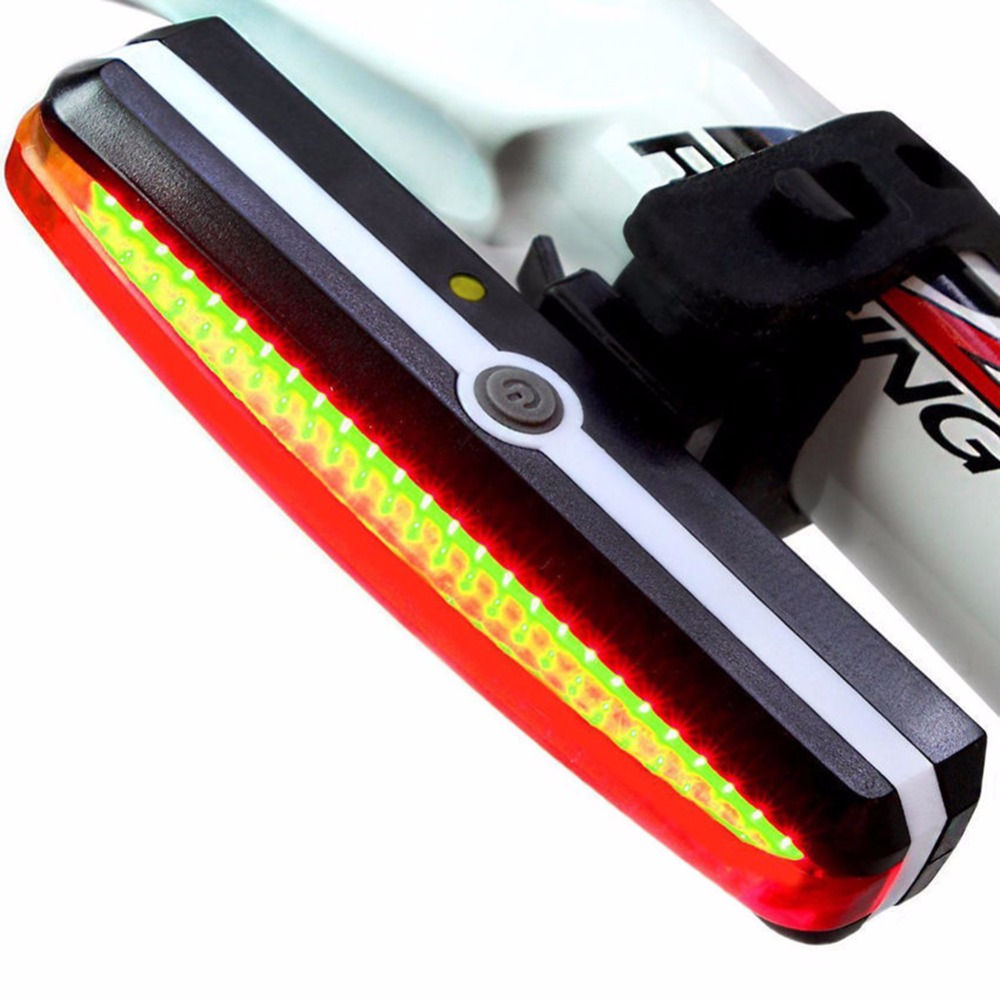 New arrive Bicycle Bike Cycling light LED with USB Rechargeable Front Rear Tail Light 6 Modes Bicycle Lamp White/Red Waterproof rear waterproof red