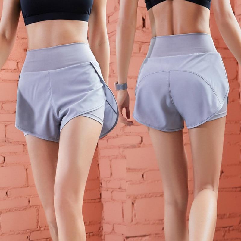 ★  Yoga Fitness Shorts Женщины Бег 2 в 1 Шорты Fine Mesh Stretch Быстросохнущие шорты XR- ★