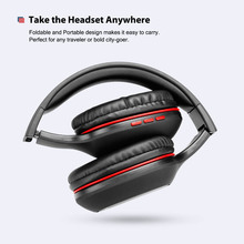 Over Ear Folding Bluetooth 4.2 Headphones Deep Bass