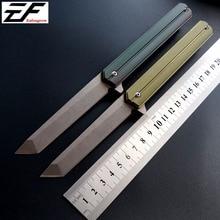 Фотография Eafengrow EF219 folding knifeQwaiken D2 blade Tactical ball bearing Flipper knife TC4 camping outdoor survival knives EDC Tool