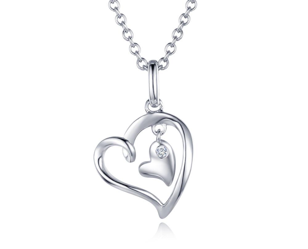 silver diamond pendants CAP03749SA-1 (14)