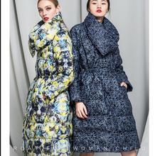 Plus size New 2016 Winter Jacket Women down jackets Lace coats Loose duck down coat Women's Outerwear Parka downs coats parkas