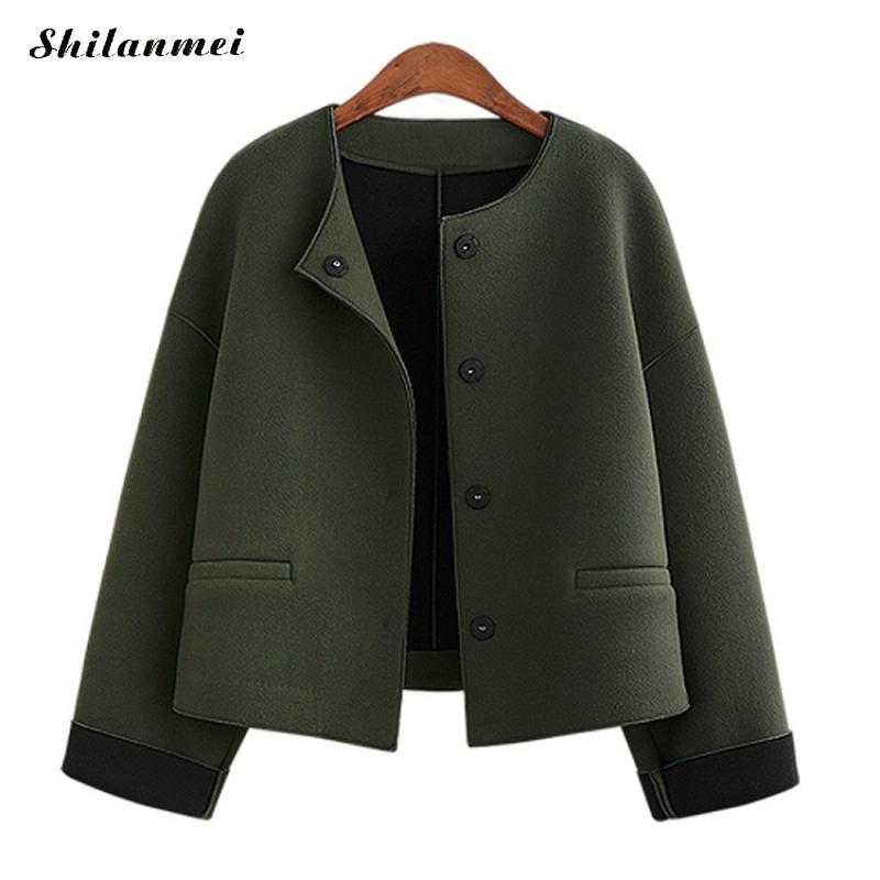 2018 New Women Winter   Jacket   Womens Solid Patchwork Army Green Gray Warm Coat Female Windproof Windbreaker Casual   Basic     Jacket