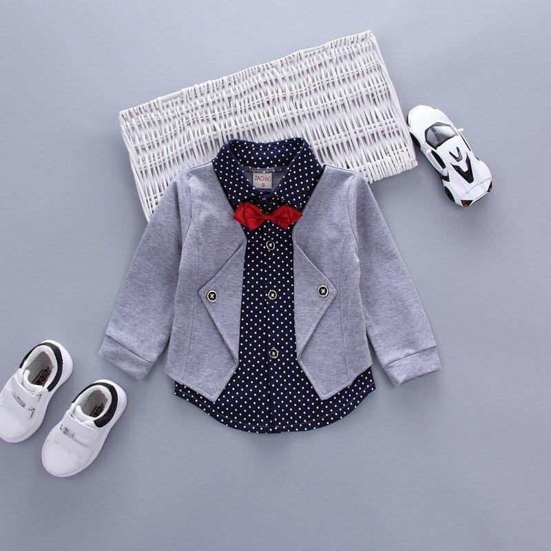 Hot Sales Infant Baby Boys Sätter Röd Plaid Långärmad Skjorta + - Babykläder - Foto 5