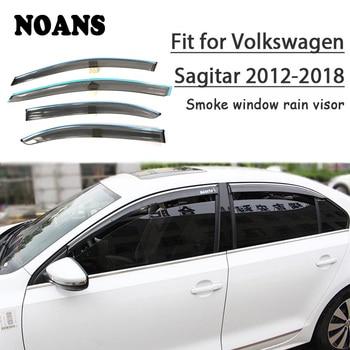 NOANS For VW Sagitar 2018 2017 2016 2015 2014 2013 2012 Car Styling Accessories ABS Windows Sun Rain Visor Door Shield Trim