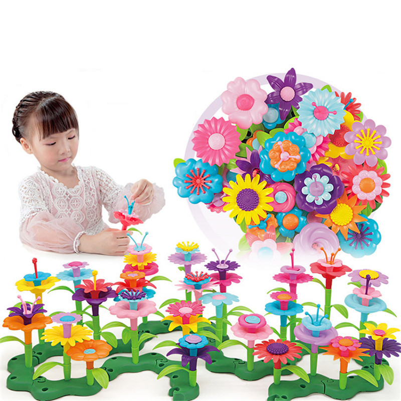 Logical 46pcs/set Girls Toys My Flowers World Home Decoration Handmade Variety Plant Models Diy Insert Assembly Puzzle Toys For Children Toys & Hobbies Model Building Kits