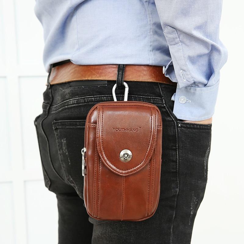 Mode män fickor mobiltelefon bälten bära bälten 5-6 tums - Bälten väskor - Foto 1