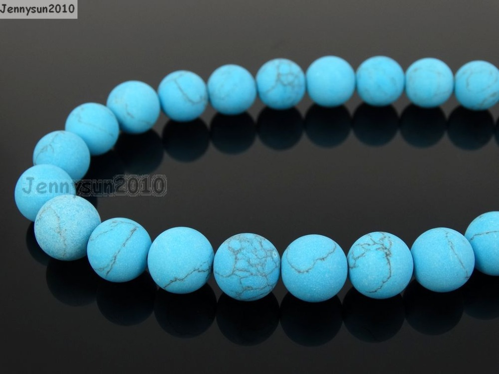 Beads & Jewelry Making Natural Matte Stabilized Tur-quoise 4mm Frosted Gems Stones Round Ball Loose Spacer Beads 15 5 Strands/ Pack To Have A Long Historical Standing