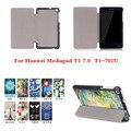 CY Уникальный дизайн Цвет Окрашены Магнитного Покрытия Для Huawei MediaPad T1 7.0 T1-701U Планшетные случаи Кожа PU Case Cover
