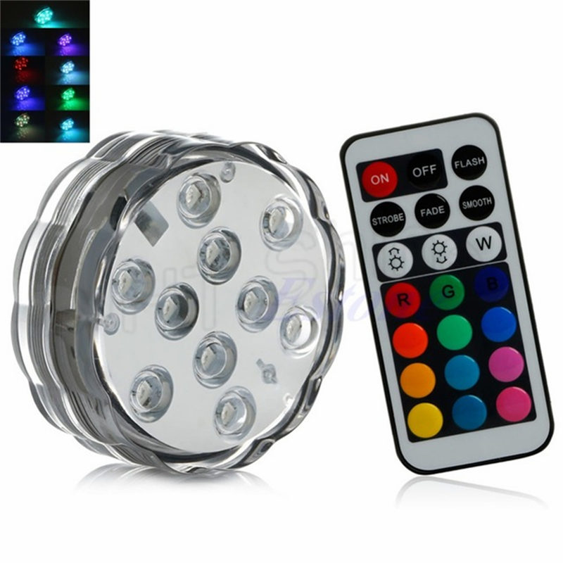 1x Remote Control Submersible Waterproof LED Floral Table Light Wedding Party Christmas Decoration Hookah Vase Halloween Indoor