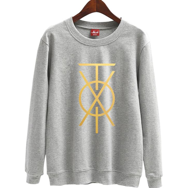 New arrival kpop tvxq new album chapter cover same printing o neck thin  sweatshirt unisex k-pop pullover loose hoodies 6 colors