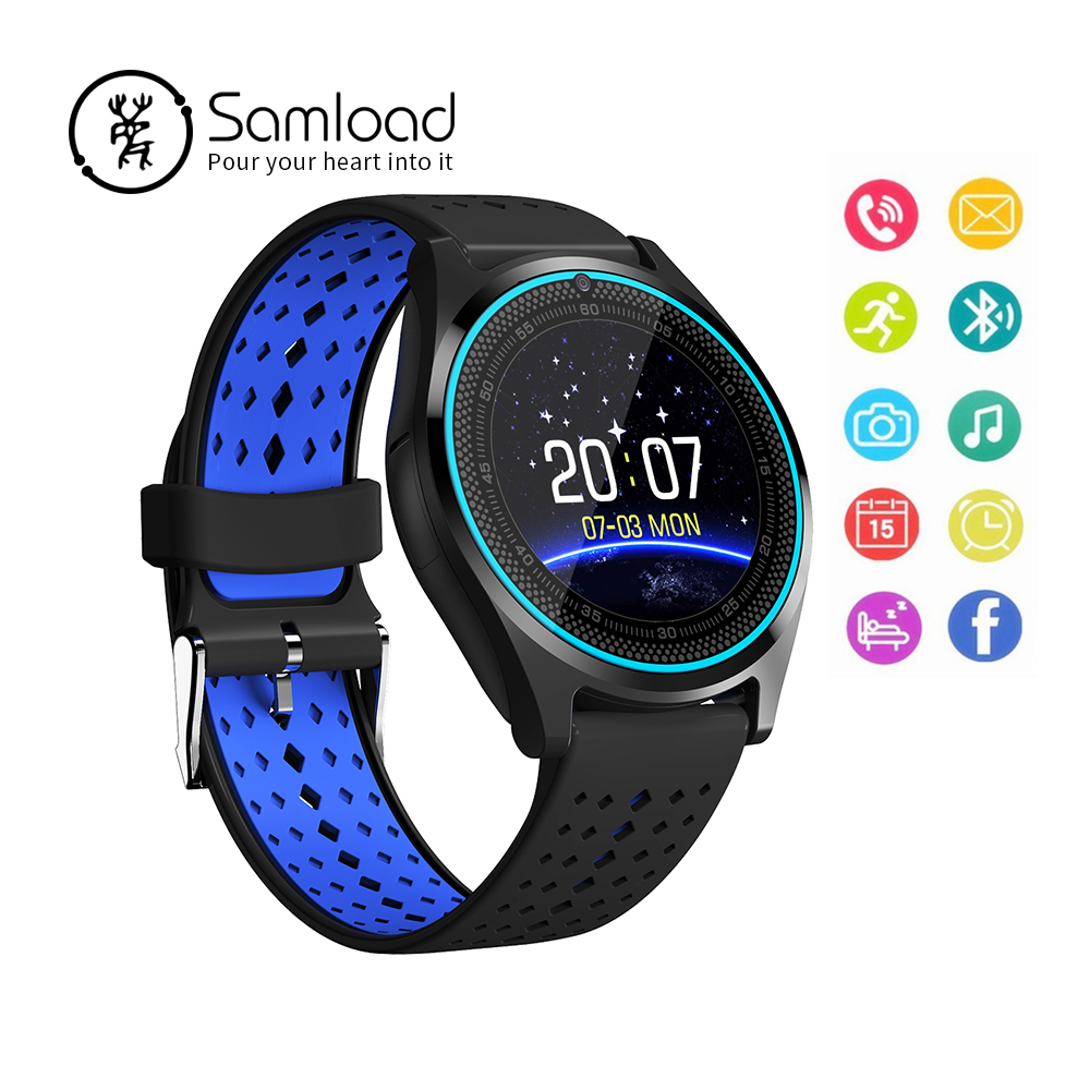 V9 Smart Watch With Sim Card Camera Bluetooth Sprot Band SIM Card Call Wristwatch for Android Phone Wearable Devices Xiaomi Sony excelvan p1 smart watch android bluetooth unlocked sim phone watch sync call music reminder relogios anti lost wearable devices