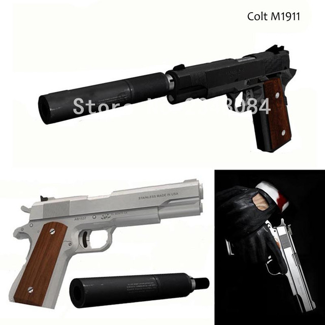 3d Paper Model 11 Colt M1911 Black Pistol Diy Gun Models Gun