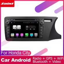 цена на ZaiXi android car dvd gps multimedia player For Honda City 2014~2019 car dvd navigation radio video audio player Navi Map