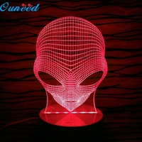 Happy Home Pop Eyed Alien Shape 3D Handmade Acrylic Lamp USB Color Changing LED Night Light