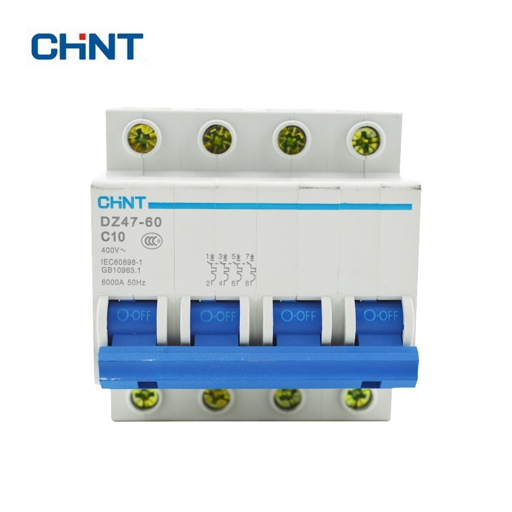 CHINT 4P 10A 230/440V~ DZ47 60 C10 Air Switch Household Lighting ...