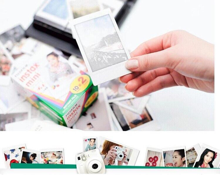 D'origine Fuji Fujifilm Instax Mini 9 Film Blanc Bord Papiers Photo Pour Mini 8 7 s 90 25 55 Partager SP-1 Appareil Photo Instantané 50 feuilles - 6