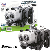 Movable legoing Panda Technic Animal With Motor Battery Box 427pcs Building Blocks Bricks Educational DIY Toys for Children Gift