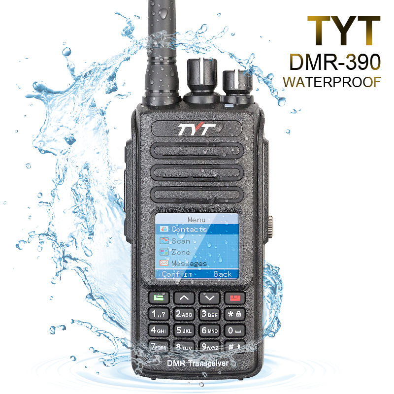 TYT MD-390 VHF 136-174mhz IP67 Vandtæt DMR Digital To-vejs Radio Walkie Talkie 1000CH 2200mAh MD390 + Programmering Kabel CD