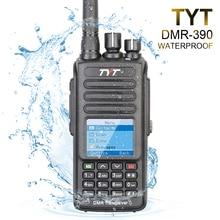TYT MD-390 VHF 136-174mhz IP67 Waterproof DMR Digital Two Way Radio Walkie Talkie 1000CH 2200mAh MD390 + Programming Cable CD
