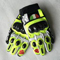 2016 high quality MJ MOTO GP Rossi gloves guantes para moto motorcycle gloves leather carbon VR46 real leather gloves with gift