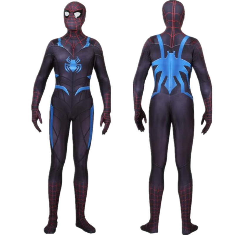 Adult Kids PS4 Spider Man Secret War Suit Cosplay Costume Zentai Spiderman Superhero Bodysuit Suit Jumpsuits